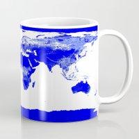 map of the world Mugs featuring World map by WhimsyRomance&Fun