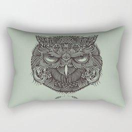 Warrior Owl Face Rectangular Pillow
