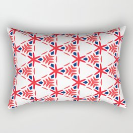 Geometric Origami Red Orange and Blue Rectangular Pillow