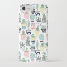 Cute Cacti in Pots Slim Case iPhone 7