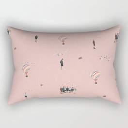 BTS Young Forever Pattern - Pink Rectangular Pillow