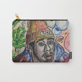 tyler,rapper,colourful,colorful,poster,wall art,fan art,music,hiphop,rap,legend,shirt,print Carry-All Pouch
