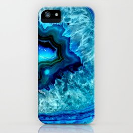 Turquoise Blue Teal Quartz Crystal iPhone Case