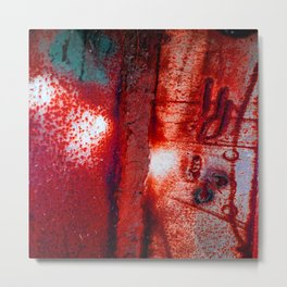 Rust in Red Metal Print