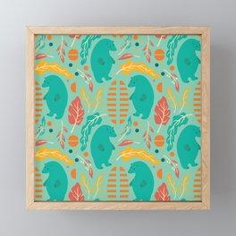 Bear pattern 001 Framed Mini Art Print