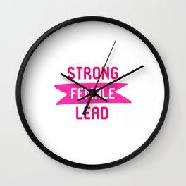 Strong Female Lead Filmmaker Film School Quote Wall Clock