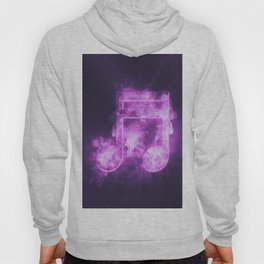 Sixteenth beamed music note symbol. Abstract night sky background Hoody