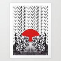 feminism Art Prints featuring Feminism (2014) by Matthieu Bourel / Ek dojo