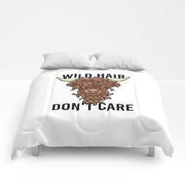 Wild Hair Don't Care Hipster Hairstyles Gift Comforters