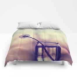 dandelion morning Comforters