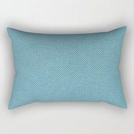 Solid Blue Rectangular Pillow