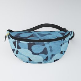 """""""Shades of blue"""" watercolor illustration Fanny Pack"""