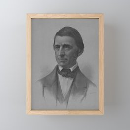 Ralph Waldo Emerson Portrait Framed Mini Art Print