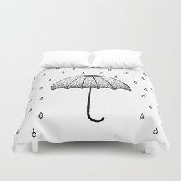 In The Rain Duvet Cover