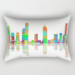 Melbourne Skyline 1 Rectangular Pillow