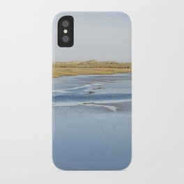 Low tide salt marsh at Overy Staithe, Norfolk, UK. iPhone Case