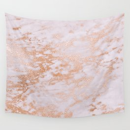 Pastel Lavender Marble Rosegold Glitter Pink Wall Tapestry