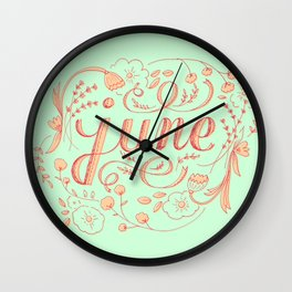 June Wall Clock