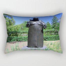 Woman with the Birds Rectangular Pillow