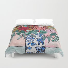 Australian Native Bouquet of Flowers after Matisse Duvet Cover