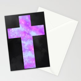 Pastel Nebula Cross Stationery Cards