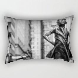 Fearless Girl New York City Rectangular Pillow