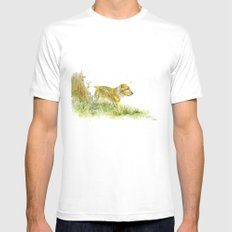 Dog Strolling Mens Fitted Tee White MEDIUM
