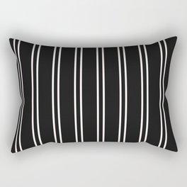 Nice Stripes in Black Rectangular Pillow