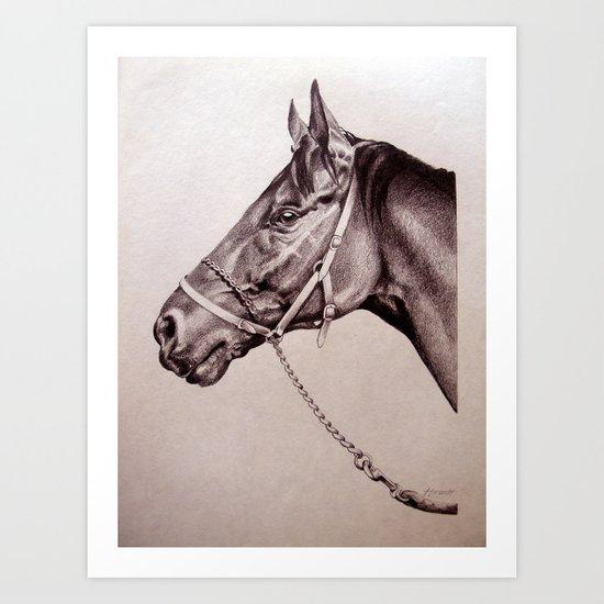 Sir Alfred - Racehorse Art Print