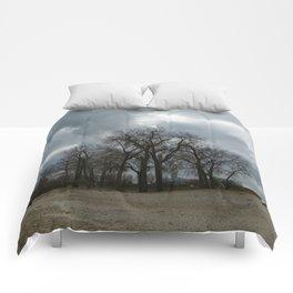 Steam Clouds Treeline Comforters