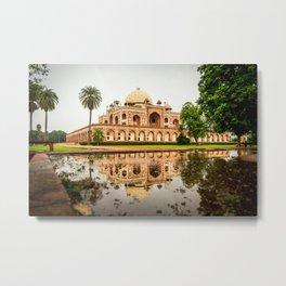 Humayuns Tomb in Delhi, India - Mughal Architecture Metal Print