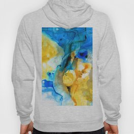 Iced Lemon Drop Abstract Art By Sharon Cummings Hoody