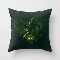 Heart of Darkness Throw Pillow