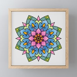Colourful Botanical Mandala Framed Mini Art Print