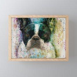Paint It Frenchie Framed Mini Art Print