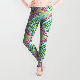 Funky Bandhani Bandhej Neon Bold Colors Leggings