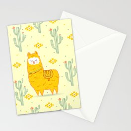 Alpaca summer Stationery Cards