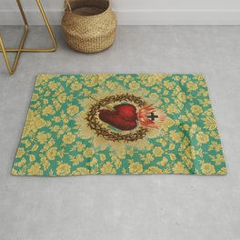 Sacred Heart LOVE Rug