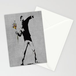 Bansky Flower Bomber Stationery Cards
