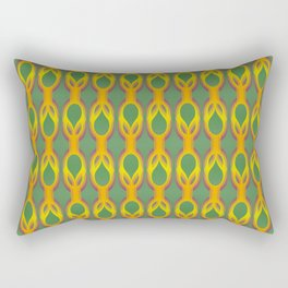 Retro-Delight - Double Drops - Golden Green Rectangular Pillow