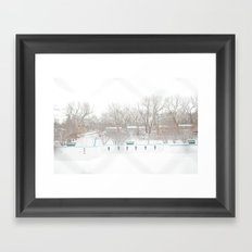 winterpool Framed Art Print