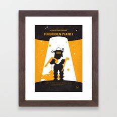 No415 My Forbidden Planet minimal movie poster Framed Art Print