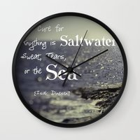 the cure Wall Clocks featuring Saltwater Cure by ShadeTree Photography