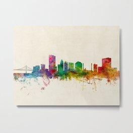Toledo Ohio Skyline Metal Print