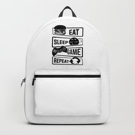 Eat Sleep Game Repeat   Video Game Console Gaming Backpack