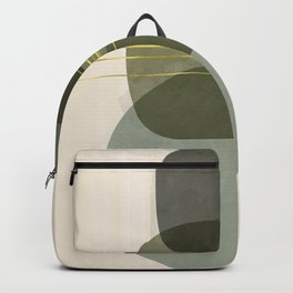 Green Stone and Gold Strings. Backpack