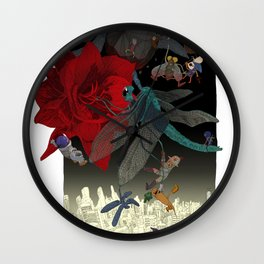 Amaryllis Wall Clock
