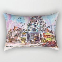 20131231 Sri Mariamman Temple, Singapore Rectangular Pillow