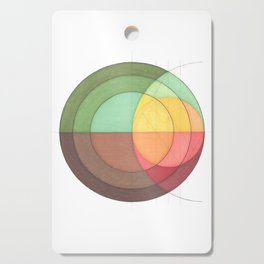 Concentric Circles Forming Equal Areas Cutting Board