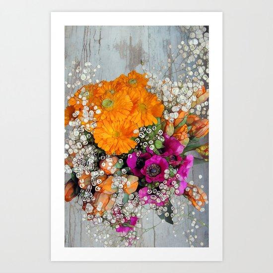 Funky Floral Art Print